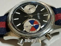 1960s Gallet MultiChron Yachting'Big Eye' Chronograph solid stainless steel