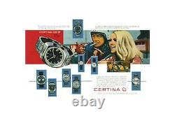 60s CERTINA AUTOMATIC DS-2 DIVER WATCH 25-651 27 JEW S. STEEL TURTLE SWISS MADE