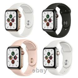 Apple Watch Series 5 44mm GPS Cellular Stainless Steel Space Black Gold Silver