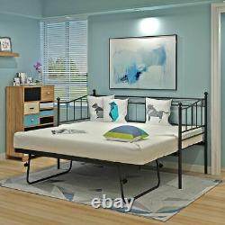 Austin 3FT METAL SINGLE DAY BED OR PULL OUT TRUNDLE BED FOR GUEST/KIDS