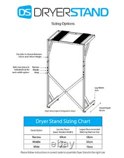 BLACK FRIDAY DISCOUNT Dryer Stand Washing Machine and Dryer Stand Shelves