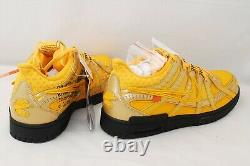 Brand New Nike Off-White Air Rubber Dunk QS University Gold Size 10 From Japan