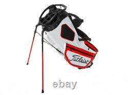 Brand New Titleist Hybrid 14 White/Red/Black Stand Bag. Trial Bag Embroidery