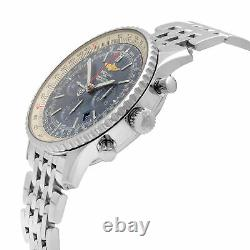 Breitling Navitimer 1 46mm Chronograph Steel Blue Dial Watch AB012721/CA05-453A