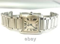 Cartier Authentic Tank Francaise Stainless Steel Medium Watch 2465