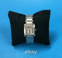 Cartier Ladies Watch Stainless Steel Tank 2384 Swiss Made