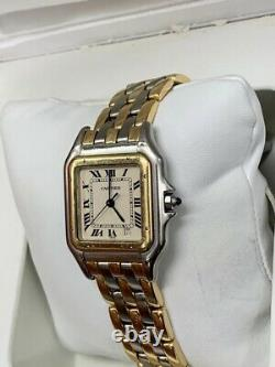 Cartier Panthere Midsize Steel & Gold Three Row Watch