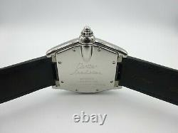 Cartier Roadster 2510 Stainless Steel Swiss Made New Strap Authentic 100m Watch