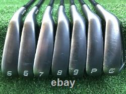 Cobra Forged Tec Black ONE Length 5-GW Irons AMT Tour White S300 NEW Grips 37in