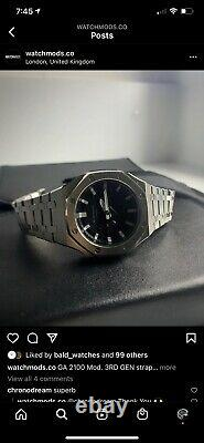 Custom G-shock Ga-2100 CasioOak Stainless Steel With An AP Style Strap