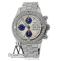 Diamond Breitling A13340 SuperOcean Stainless Steel Automatic Men's Watch