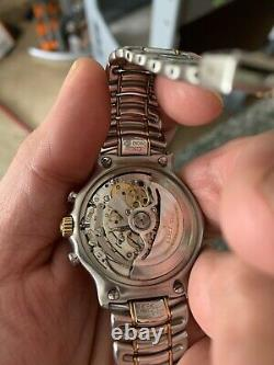 Ebel 1911 El Primero 18K Gold & Stainless Steel Chronograph 31 Jewels Automatic