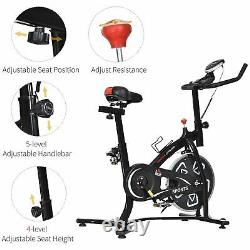 Exercise Training Bike Indoor Cycling Bicycle Workout Trainer LCD Monitor Black