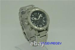 Genuine New Nixon Watch A037000 Silver Stainless Steel 42-20 Chrono A037-000 men