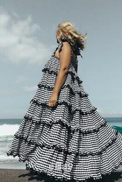 Innika choo scalloped Dress in black and white brand new with tags