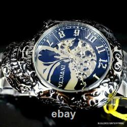 Invicta Artist Skull Automatic Skeletonized Stainless Steel 50mm Watch New