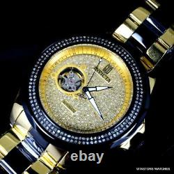 Invicta JT Grand Diver 2 CTW Diamond Automatic Gold Plated Steel 47mm Watch New