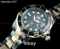 Invicta Men 47mm Grand Diver Automatic BLACK & ROSE GOLD Stainless Steel Watch