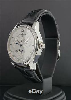 Jaeger LeCoultre Master Geographic 39mm Stainless Steel Ref Q1428421 Box & Paper