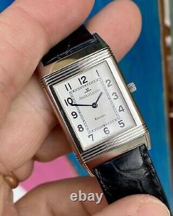 Jaeger-LeCoultre Reverso White Dial Box Steel Leather mens Unisex Leather Watch