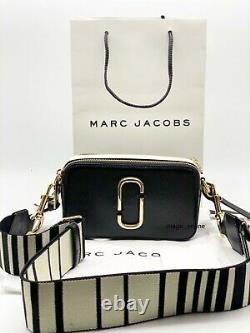 MARC JACOBS Snapshot Small Camera Bag black white Brand new hot sales