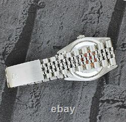 MINT Mens Rolex Datejust 16234 in Steel and 18ct White Gold Black Dial