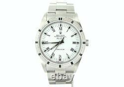 Men Rolex Stainless Steel Air-King Watch Oyster withWhite & Black Roman Dial 14010