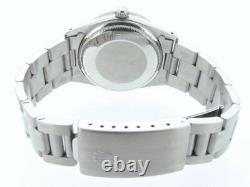 Mens Rolex Date Stainless Steel Watch Oyster Band White & Black Roman Dial 15010