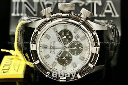 New Invicta Men's 50MM BOLT White MOP DIAL Chronograph Stainless Steel Watch
