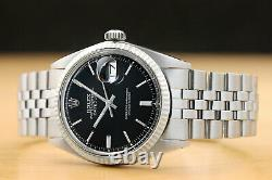 ROLEX MENS OYSTER PERPETUAL DATEJUST 18K WHITE GOLD & STEEL WATCH withROLEX BAND