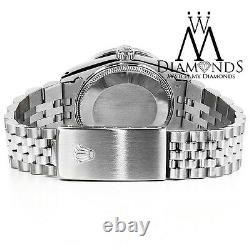 Rolex 36mm Datejust White Mother Of Pearl Diamond Dial 18k & Ss With Rolex Box