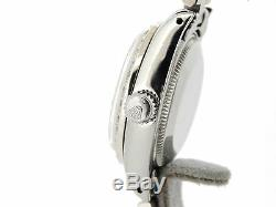 Rolex Datejust Lady Stainless Steel Watch Oyster Black Diamond Dial. 70ct Bezel