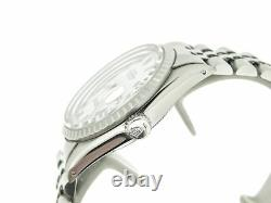 Rolex Datejust Mens Stainless Steel Watch White Roman Dial Jubilee Band 16030