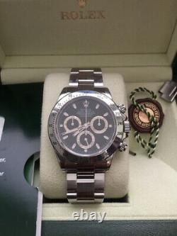 Rolex Daytona 116520 Black Dial Chronograph Stainless Steel Discontinued