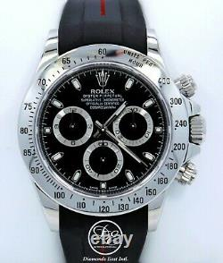 Rolex Daytona 116520 Cosmograph Steel Oyster & Rubber B Black Dial Papers MINT