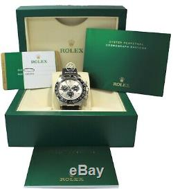 Rolex Daytona 18K White Gold 116519LN Oyster Perpetual Cosmograph Watch NEW