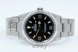 Rolex Explorer I 114270 Stainless Steel Oyster 36mm Black Dial Watch MINT