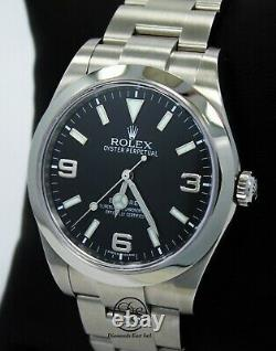 Rolex Explorer I 39mm 214270 Steel Oyster Black Dial Watch PAPERS MINT
