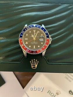 Rolex GMT Master 2 ii Stainless Steel Pepsi 16710. F Series Dated 2005 -UK Watch