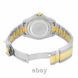 Rolex GMT-Master II Black on Black Steel Yellow Gold Automatic Mens Watch 116713