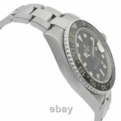 Rolex GMT-Master II Stainless Steel Black Dial Automatic Mens Watch 116710LN