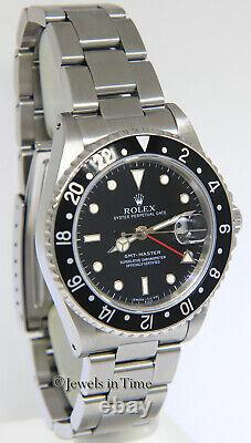 Rolex GMT-Master Steel Black Dial/Bezel Red Hand Mens 40mm Automatic Watch 16700