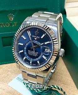 Rolex Sky-Dweller 326934 Stainless Steel 42mm Blue Dial With Papers 2021 UNWORN