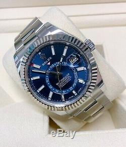 Rolex Sky-Dweller 326934 Stainless Steel Blue BOX AND PAPERWORK 2018