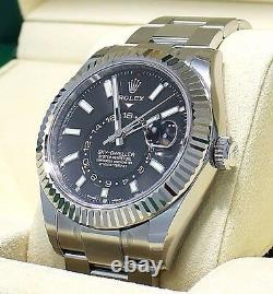 Rolex Sky-Dweller 326934 Steel Black Dial Oyster Perpetual BOX/PAPERS NEW