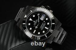 Rolex Submariner Date Black PVD/DLC Coated Stainless Steel 40mm Watch 116610LN