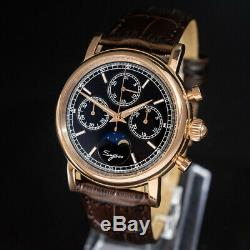 Seagull Sugess ST1908 Chronograph Watch Genuine Moon-phase Venus 175 1963 ST19