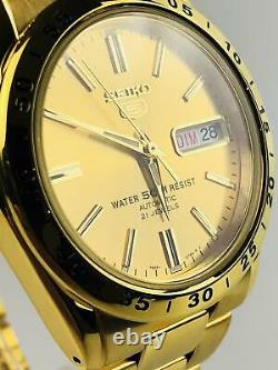 Seiko 5 Automatic Gold Stainless Steel Mens Watch SNKE06K1 RRP £219