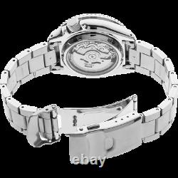 Seiko 5 Sports 42.5mm 24-Jewel Men's Automatic Watch, Stainless Steel