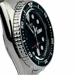 Seiko SKX013K2 Divers Black Dial Stainless Steel Silver Mens Watch